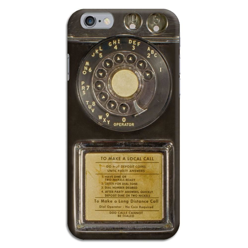 Vintage Slot Phone A.K.A The Public Payphone Slim Case And Cover For Iphone 6