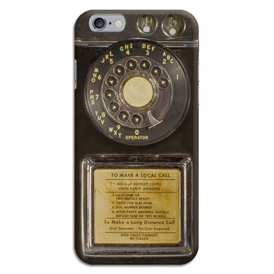 Vintage Slot Phone A.K.A The Public Payphone Slim Case And Cover For Iphone 6 - Bakelite Black