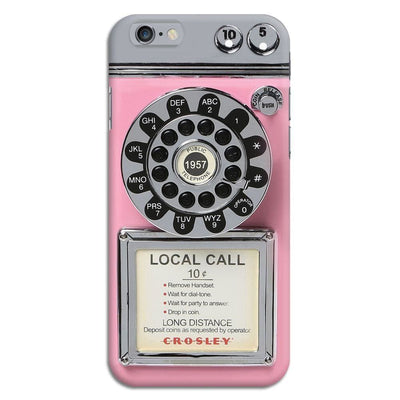 Vintage Slot Phone A.K.A The Public Payphone Slim Case And Cover For Iphone 6 - Pink