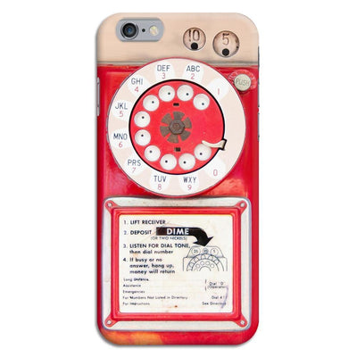 Vintage Slot Phone A.K.A The Public Payphone Slim Case And Cover For Iphone 6 - Red
