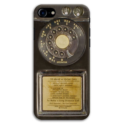 Vintage Slot Phone A.K.A The Public Payphone Slim Case And Cover For Iphone 7 - Bakelite Black