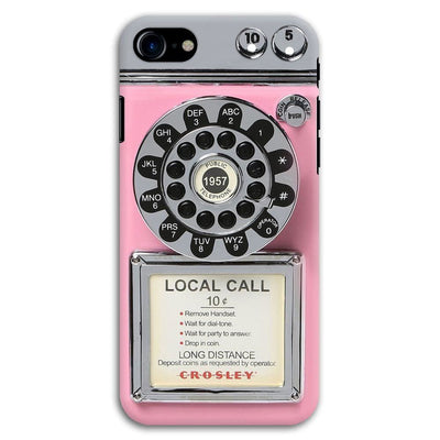 Vintage Slot Phone A.K.A The Public Payphone Slim Case And Cover For Iphone 7 - Pink