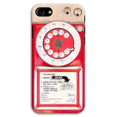 Vintage Slot Phone A.K.A The Public Payphone Slim Case And Cover For Iphone 7 - Red