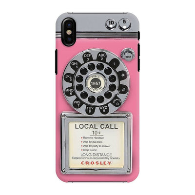 Vintage Slot Phone A.K.A The Public Payphone Slim Case And Cover For Iphone X - Pink