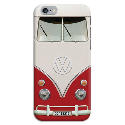 Volkswagen Hippie Camper Slim Case And Cover For Iphone 6 - Red