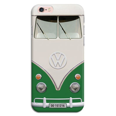 Volkswagen Hippie Camper Slim Case And Cover For Iphone 6S - Green