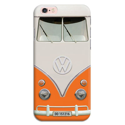 Volkswagen Hippie Camper Slim Case And Cover For Iphone 6S - Orange