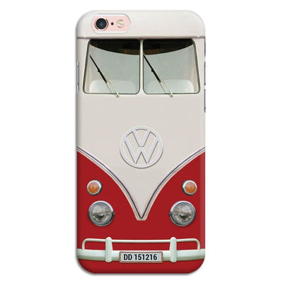 Volkswagen Hippie Camper Slim Case And Cover For Iphone 6S - Red