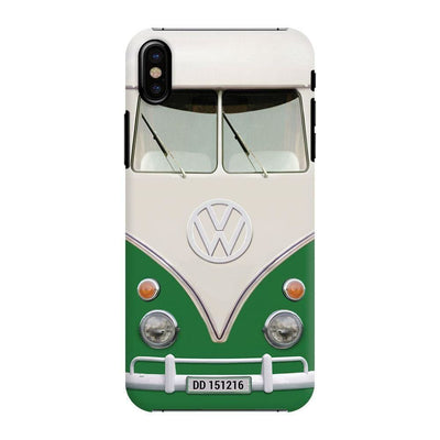 Volkswagen Hippie Camper Slim Case And Cover For Iphone X - Green