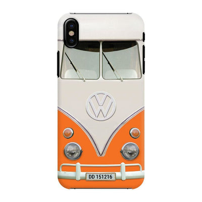 Volkswagen Hippie Camper Slim Case And Cover For Iphone X - Orange