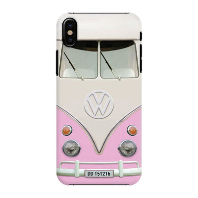 Volkswagen Hippie Camper Slim Case And Cover For Iphone X - Pink