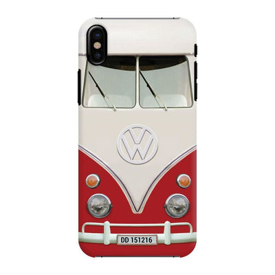 Volkswagen Hippie Camper Slim Case And Cover For Iphone X - Red