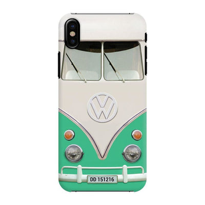 Volkswagen Hippie Camper Slim Case And Cover For Iphone X - Teal
