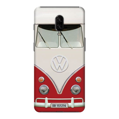 Volkswagen Hippie Camper Slim Case And Cover For Oneplus 6T - Red