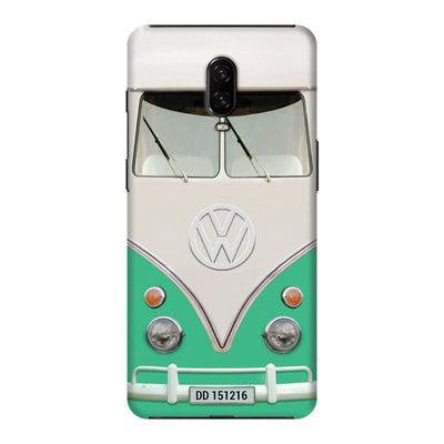 Volkswagen Hippie Camper Slim Case And Cover For Oneplus 6T - Teal