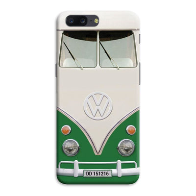 Volkswagen Hippie Camper Slim Case And Cover For Oneplus Five - Green