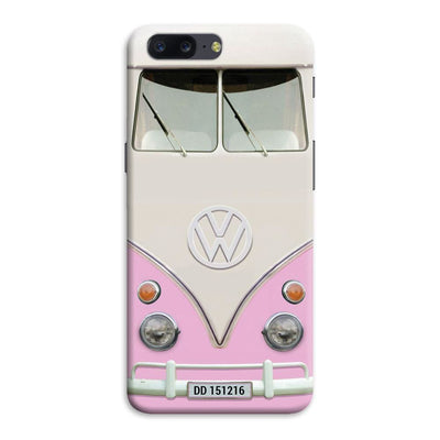 Volkswagen Hippie Camper Slim Case And Cover For Oneplus Five - Pink