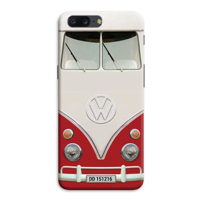Volkswagen Hippie Camper Slim Case And Cover For Oneplus Five - Red