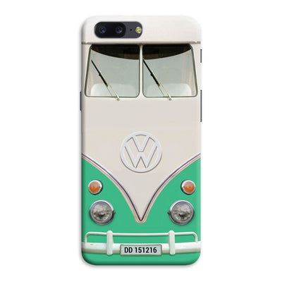 Volkswagen Hippie Camper Slim Case And Cover For Oneplus Five - Teal