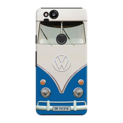 Volkswagen Hippie Camper Slim Case And Cover For Pixel 2 - Blue