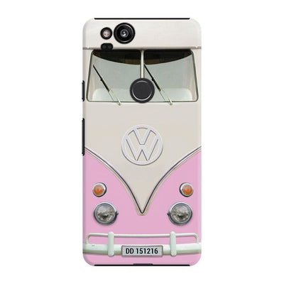 Volkswagen Hippie Camper Slim Case And Cover For Pixel 2 - Pink