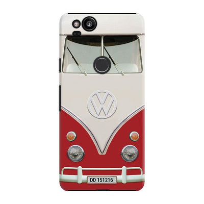 Volkswagen Hippie Camper Slim Case And Cover For Pixel 2 - Red