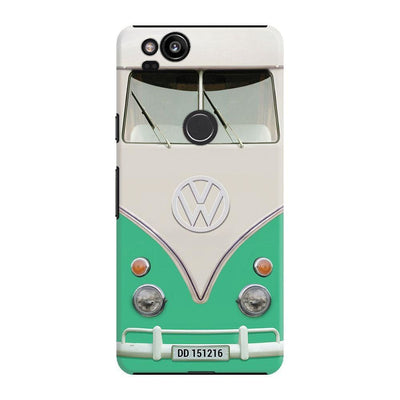 Volkswagen Hippie Camper Slim Case And Cover For Pixel 2 - Teal