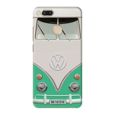 Volkswagen Hippie Camper Slim Case And Cover For Redmi Mi A1 - Teal