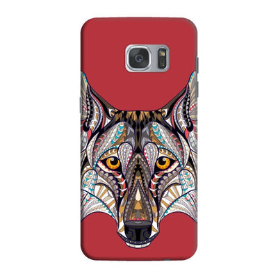Wolf-The Pack People Slim Case And Cover For Galaxy S7 Edge - Red