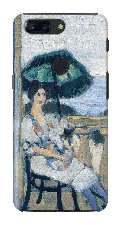 Woman Holding Umbrella 1919 Slim Case And Cover For Oneplus 5T