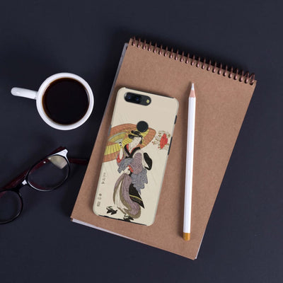 Woman In Rain With Umbrella Slim Case And Cover For Oneplus 5T