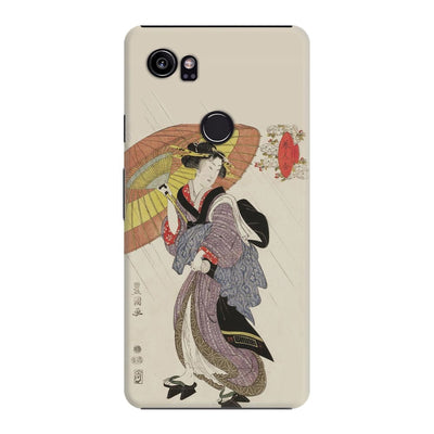 Woman In Rain With Umbrella Slim Case For Pixel 2 XL