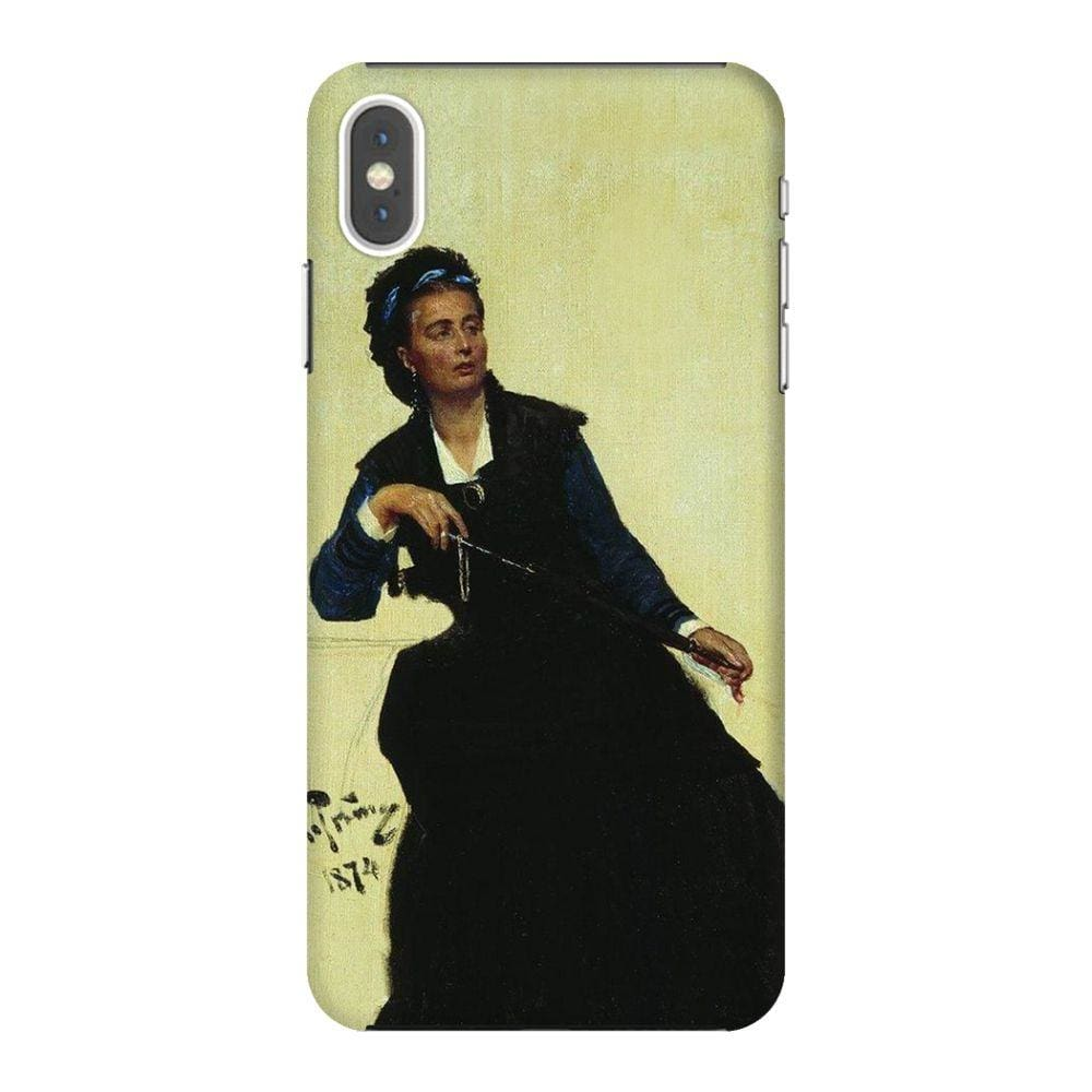 WOMAN PLAYING WITH UMBRELLA Slim Case And Cover For IPHONE XS MAX