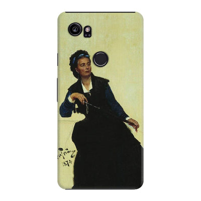 Woman playing with umbrella Slim Case For Pixel 2 XL