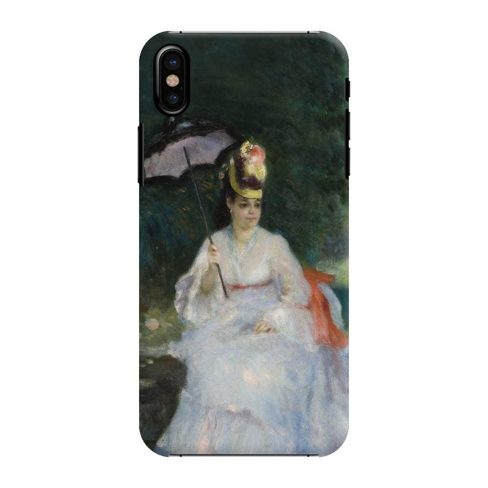 WOMAN WITH PARASOL IN GARDEN Slim Case And Cover For IPHONE XS