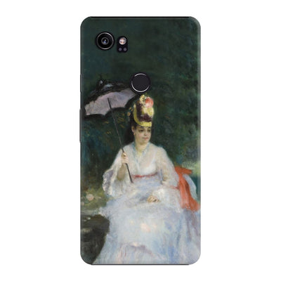 Woman With Parasol In Garden Slim Case For Pixel 2 XL