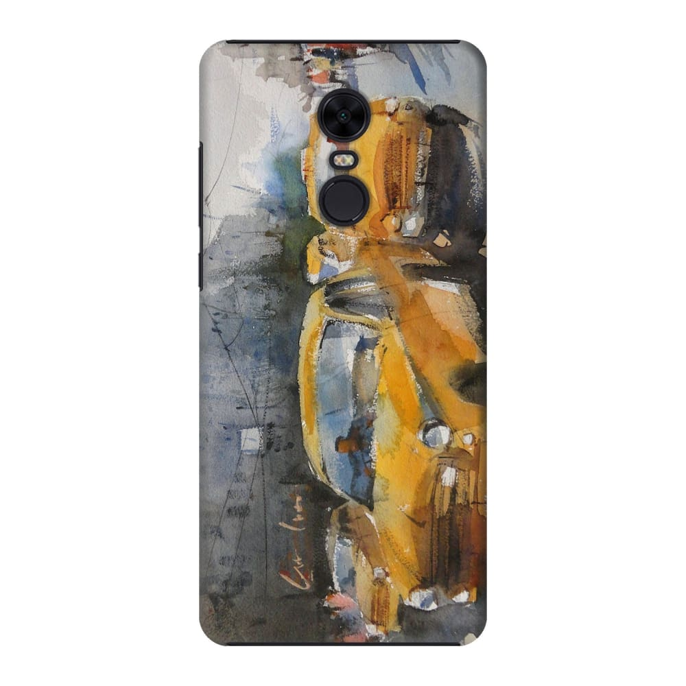 YELLOW CABS OF KOLKATA Slim Case And Cover For REDMI NOTE 5