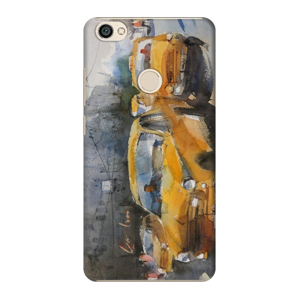 YELLOW CABS OF KOLKATA Slim Case And Cover For REDMI Y1