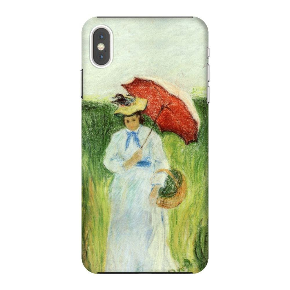 YOUNG WOMAN WITH AN UMBRELLA Slim Case And Cover For IPHONE XS MAX