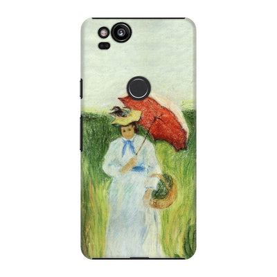Young Woman With An Umbrella Slim Case For Pixel 2