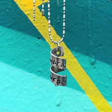 Load image into Gallery viewer, Scroll Hidden Message Necklace - You can Customize