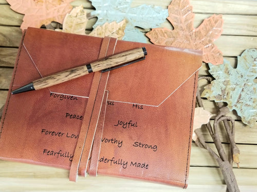 Leather Engraved Journal Notebook My True Identity - Inspirational- Gift