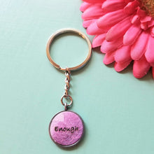 Load image into Gallery viewer, Leather Pendant Inspirational Keychain - Encourage