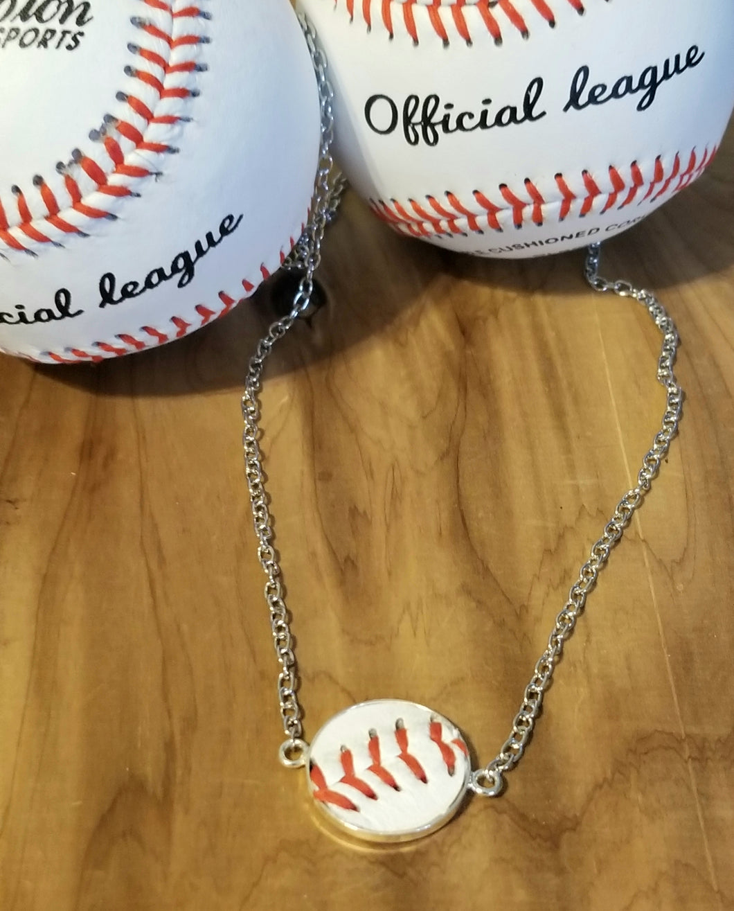 Baseball Leather Necklace Gift
