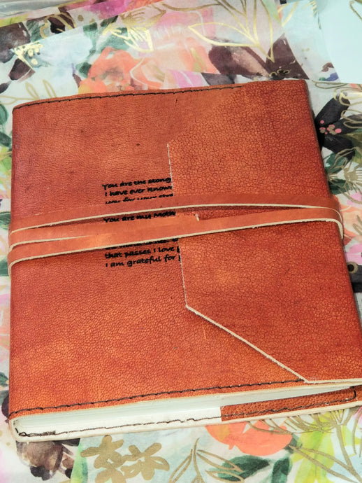Mom ~ Leather Engraved Journal Notebook- Gift