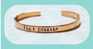 Copper Hand Stamped Metal Cuff - Choose your own words
