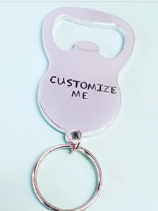 Bottle Opener Key Chain - Customize Me