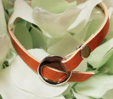 Load image into Gallery viewer, Engraved Buckle Cuff Bracelet Tan ♡CHOOSE YOUR OWN WORDING ♡