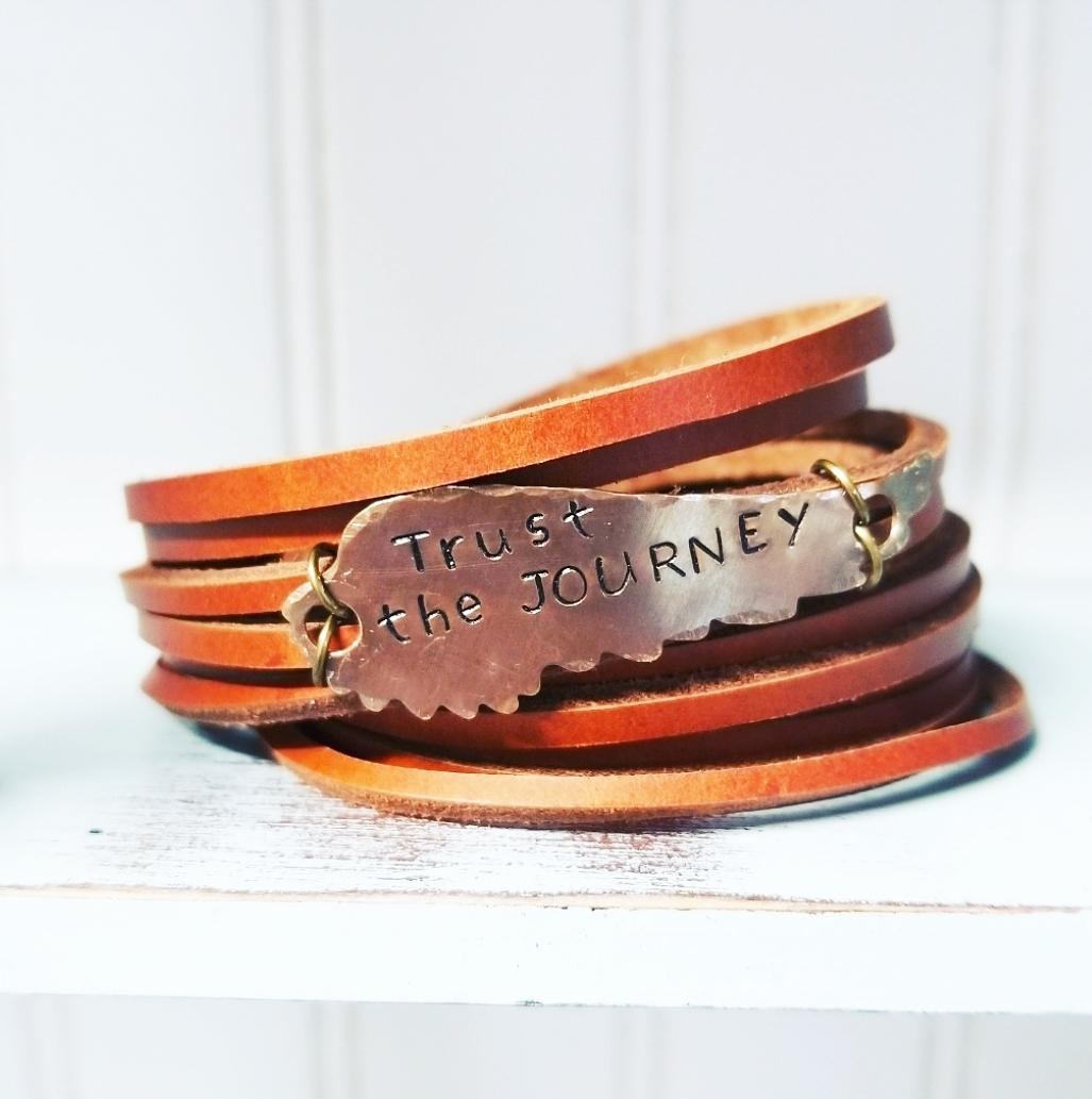 Double Wrap Shred Cuff  Trust the JOURNEY