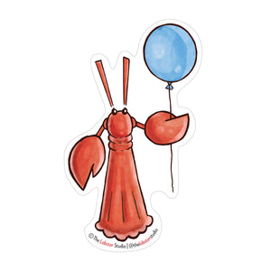Little Lobster with Balloon Vinyl Sticker